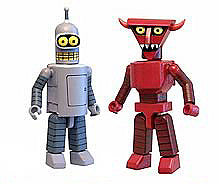 Futurama (TV) I-Men 2-Pack Collection Series 1 (# 043 & 044) – Bender &  Robot Devil figures