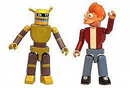 Futurama (TV) I-Men 2-Pack Collection Series 1 (# 041 & 042) – Fry & Calculon figures