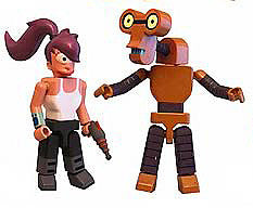 Futurama (TV) I-Men 2-Pack Collection Series 1 (# 045 & 046) – Leela & Roberto figures