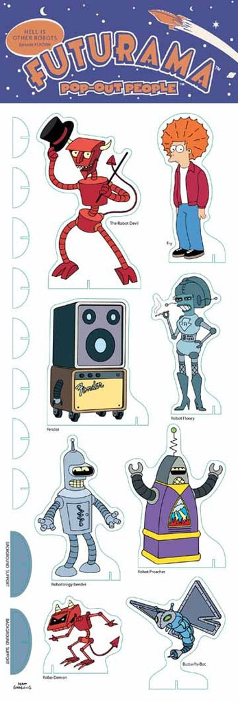 Futurama (TV) – Pop-Out People – Hell is Other Robots