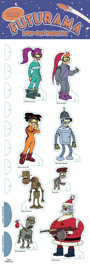 Futurama (TV) – Pop-Out People – X-Mas Story