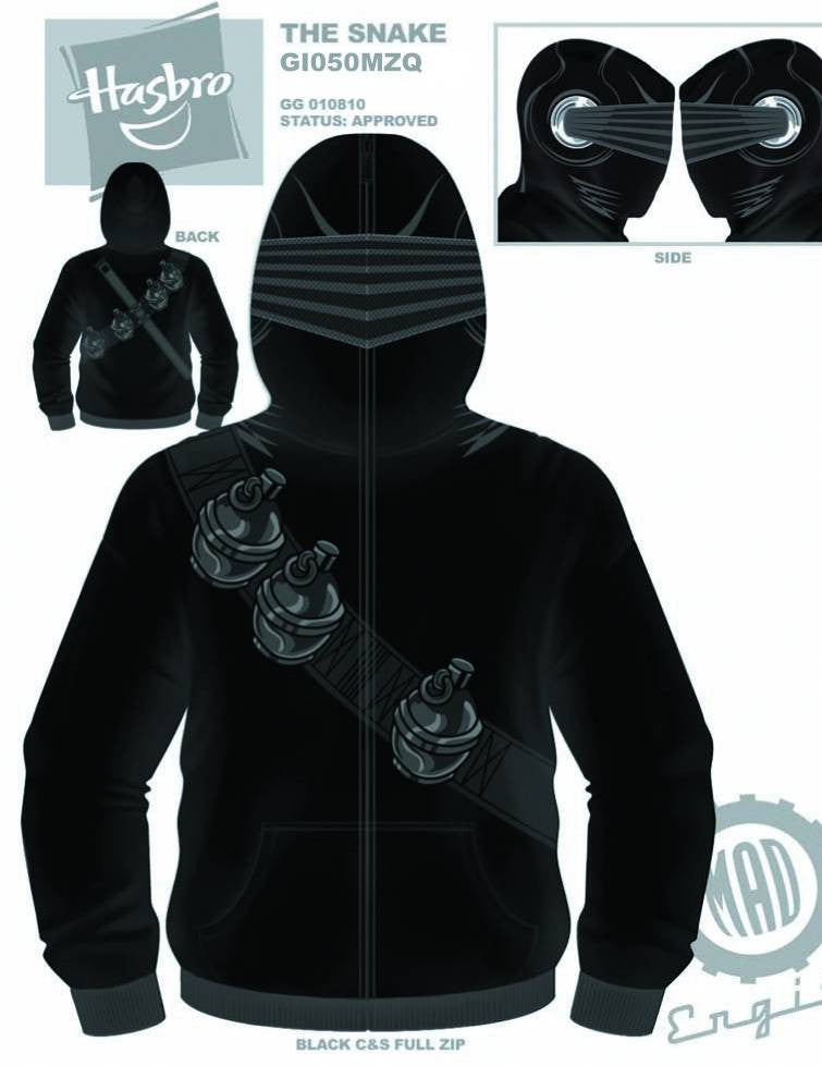 G.I. Joe (TV Series) – Snake Eyes – Uniform Adult Men's Fleece Zip-Up Hoodie (XXL)