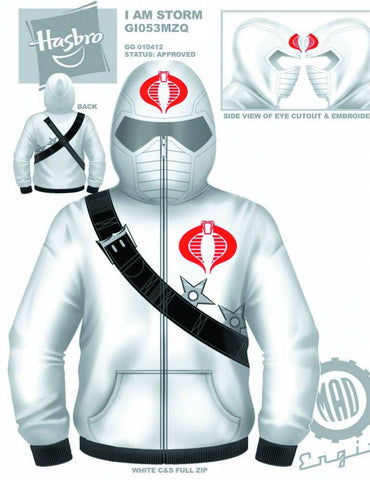 G.I. Joe (TV Series) – Storm Shadow – Uniform Adult Men's Fleece Zip-Up Hoodie (XXL)