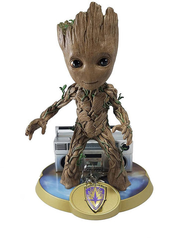 "Finders Keypers Statue – Guardians of the Galaxy Vol. 2 (Film) – Groot 10"" Vinyl Figure and Keychain"