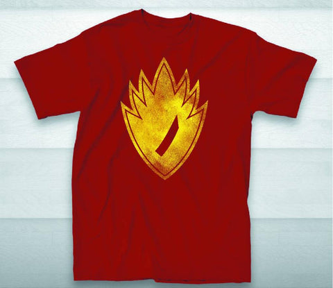 "Guardians of the Galaxy (Film) – ""Ravager"" Neon Symbol Cardinal Red Adult Men's T-Shirt (XXL)"