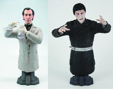 "Hammer Horror Masterpiece Collection – ""Curse of Frankenstein"" (Film) 2-Bust Set – Dr. Frankenstein and Frankenstein's Monster"