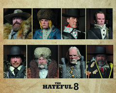 "Hateful Eight (Film) – Complete Set of All 8 ""Hateful Eight"" Retro Cloth 8"" Figures [SET]"