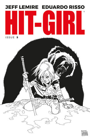 "Hit-Girl (2017 series) #05-8 [SET] — Volume 02: Canada (All Variant ""B"" B&W Covers)"