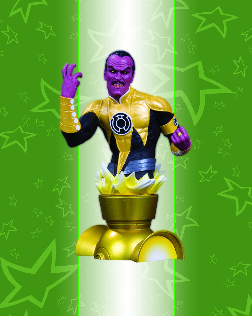 Heroes of the DC Universe Series 2 – Yellow Lantern Sinestro Bust