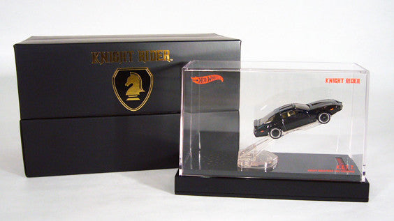 Hot Wheels – Knight Rider (TV) K.I.T.T. (Knight Industries Two Thousand) Collector's Die-Cast Car in Acrylic Display (SDCC 2012 Exclusive)