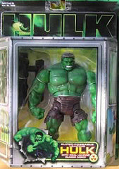 "Hulk (Film) – Series 1 – Super-Poseable Leaping Hulk 6"" Figure with Real Bungee Cord"