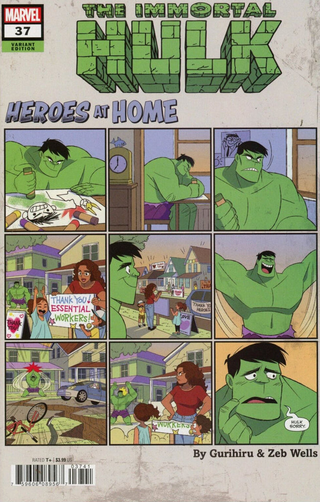 "Immortal Hulk (2018 series) #37 (Variant ""Heroes at Home"" Cover - Gurihiru)"