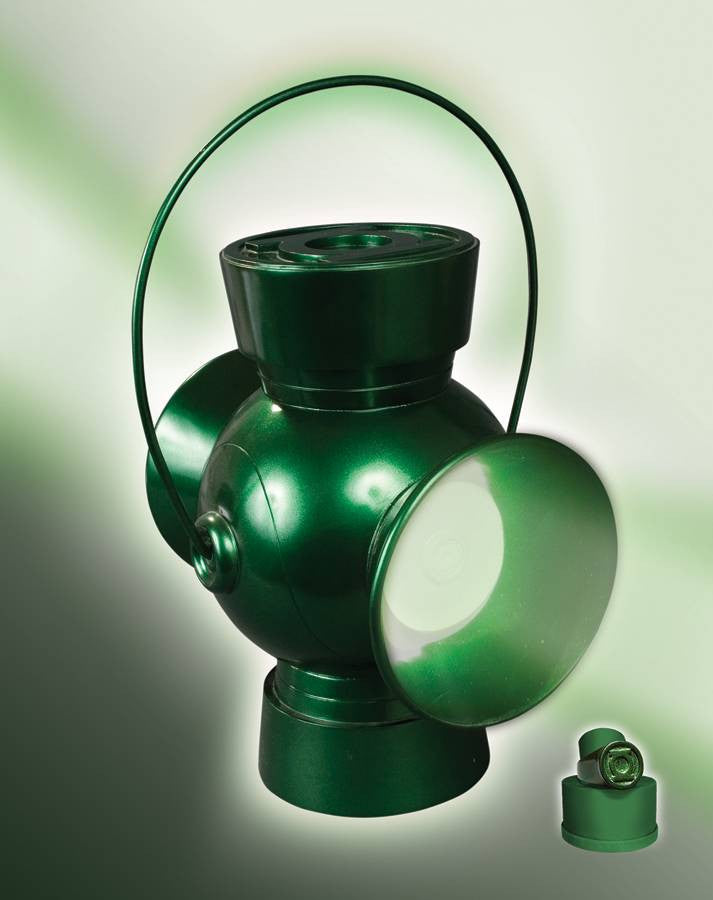 JLA Trophy Room – Green Lantern Power Battery & Ring Prop Replica + Additional Regular Ring with Magnet