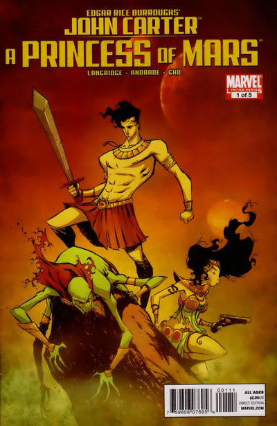 John Carter (2011 mini-series) #1-5 [SET] — Volume 01:  A Princess of Mars