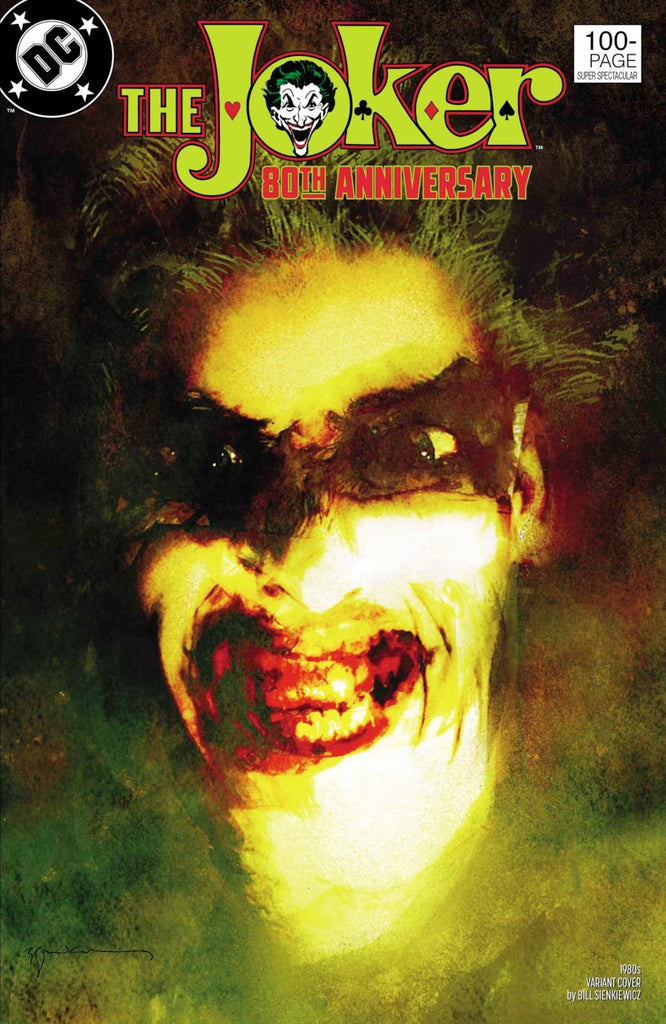 "Joker 80th Anniversary 100 page Super Spectacular (2020 one-shot) #1 (Variant ""1980's"" Cover - Bill Sienkiewicz)"