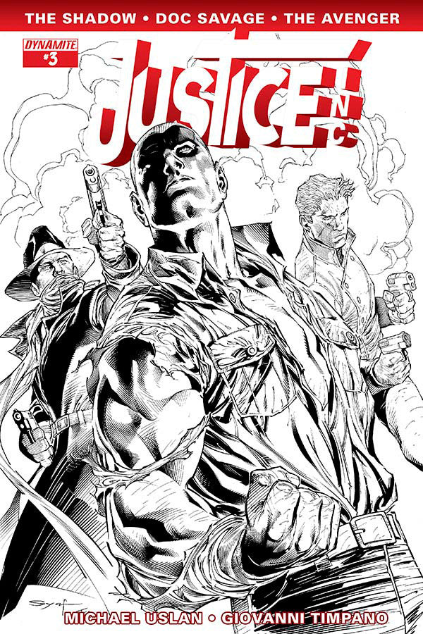 "Justice, Inc. (2014 Mini-Series) #3 (Variant Incentive ""B"" B&W Cover - Ardian Syaf)"