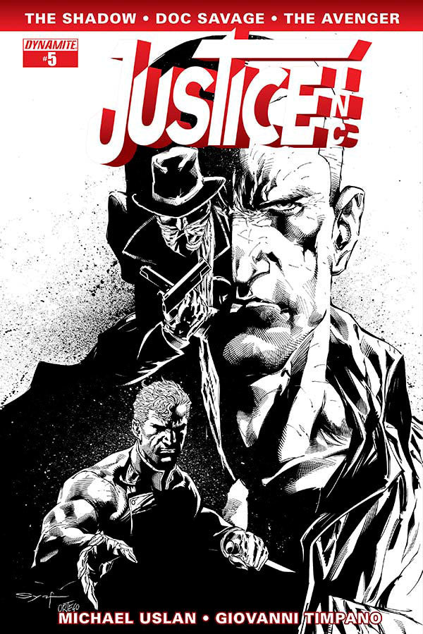 "Justice, Inc. (2014 Mini-Series) #5 (Variant Incentive ""B"" B&W Cover - Ardian Syaf)"