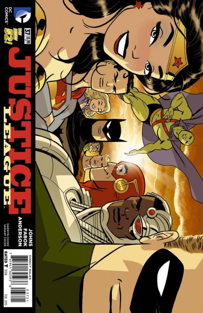 "Justice League (2011 Series) #37 (Variant ""Artist"" Cover - Darwyn Cooke)"