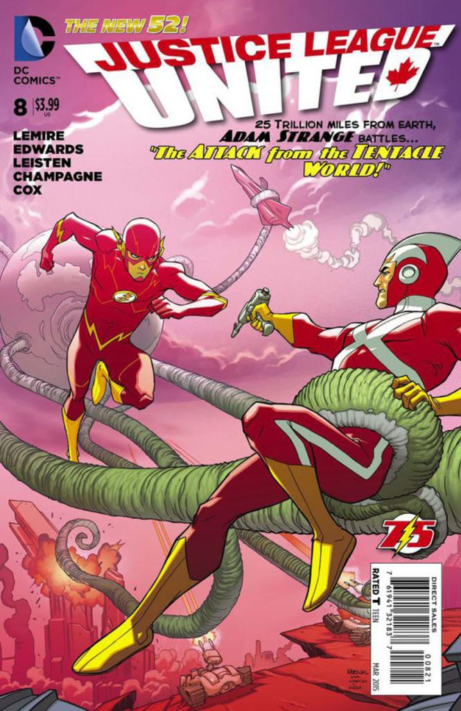 "Justice League United (2014 Series) #8 (Variant ""Flash 75"" Cover - Karl Kerschel)"