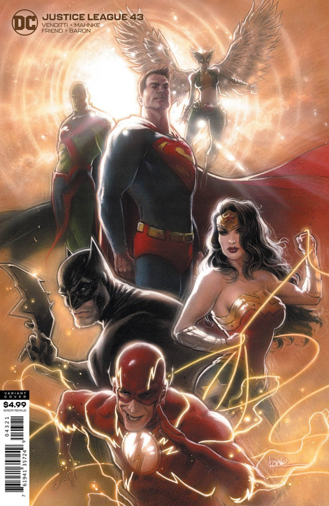 Justice League (2018 series) #43 (Variant Card Stock Cover - Kaare Andrews)