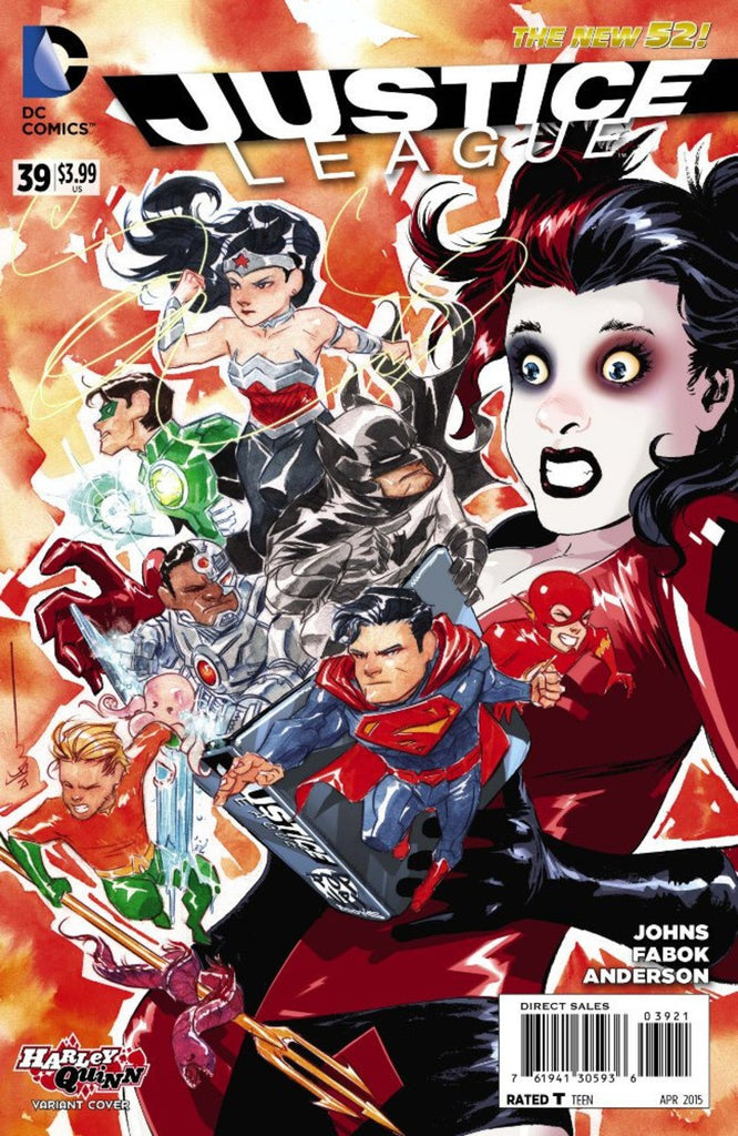 "Justice League (2011 Series) #39 (Variant ""Harley Quinn"" Cover - Dustin Nguyen)"