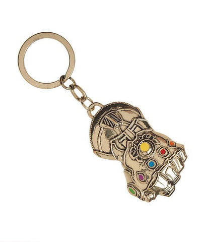 Key Chain – Avengers; Infinity War (Film) – Thanos Infinity Gautlet Gold Keychain
