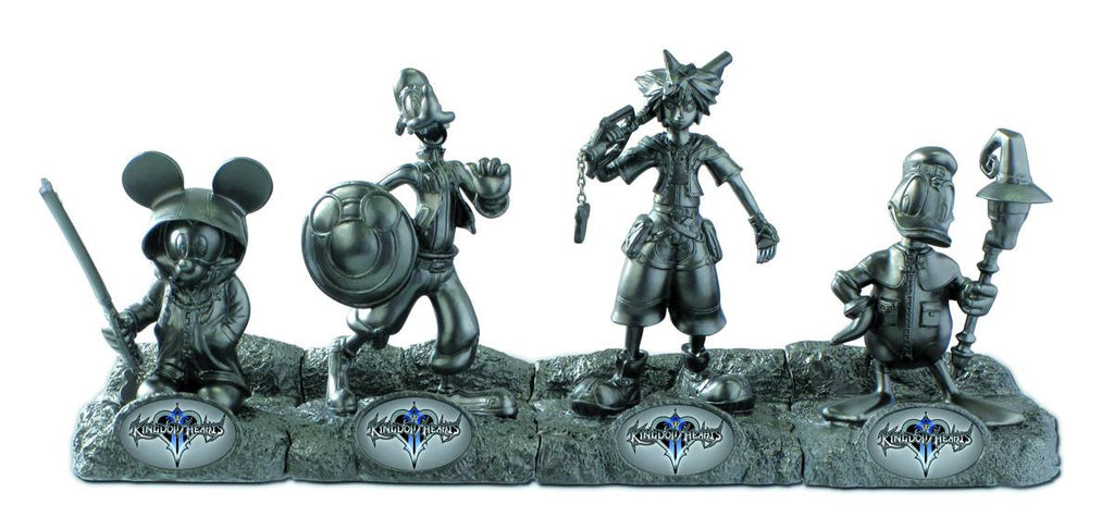 Kingdom Hearts – Silver Plated Resin Figure Set (SDCC 2012 Exclusive)
