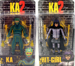 "Kick-Ass 2 (Film) Series 1 – Kick-Ass & Hit-Girl 6"" Figures Set"