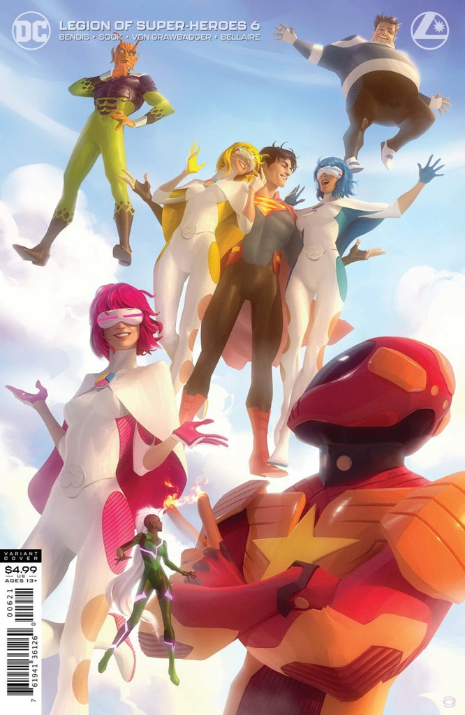 Legion of Super-Heroes (2019 series) #6 (Variant Card Stock Cover - Alex Garner)