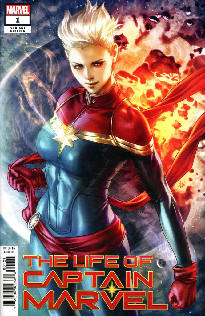"Life of Captain Marvel (2018 mini-series) #1 (Variant ""Artist"" Cover - ARTGERM)"