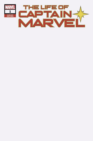 Life of Captain Marvel (2018 mini-series) #1 (Variant Cover - Blank)