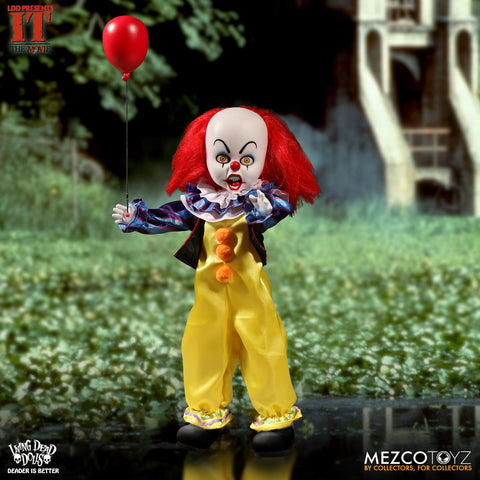 "Living Dead Dolls – Stephen King's IT (Film) – Pennywise the Clown 10"" Figure"