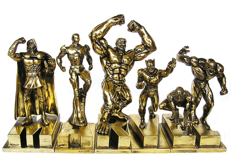 Monogram – Marvel Universe Statue Set – Variant Gold Edition – Dr. Doom, Iron Man, Hulk, Wolverine, Spider-Man & Venom (SDCC 2010)