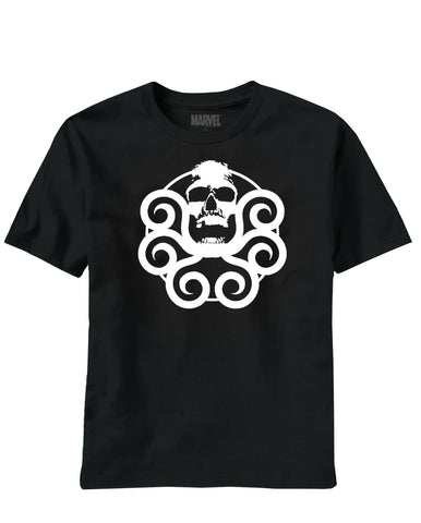 Marvel Heroes – H.Y.D.R.A. Logo – Adult Men's Black T/S XXL