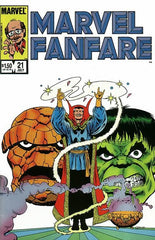 Marvel Fanfare (1982 series) #20-21 [SET] — The Clash; Featuring the Thing, Doctor Strange and The Hulk