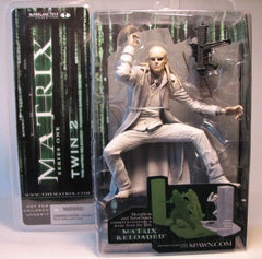 "Matrix (Film) – Series 1 Deluxe Figure – Twin 2 6"" figure Diorama Parking Garage Scene from Matrix: Reloaded"