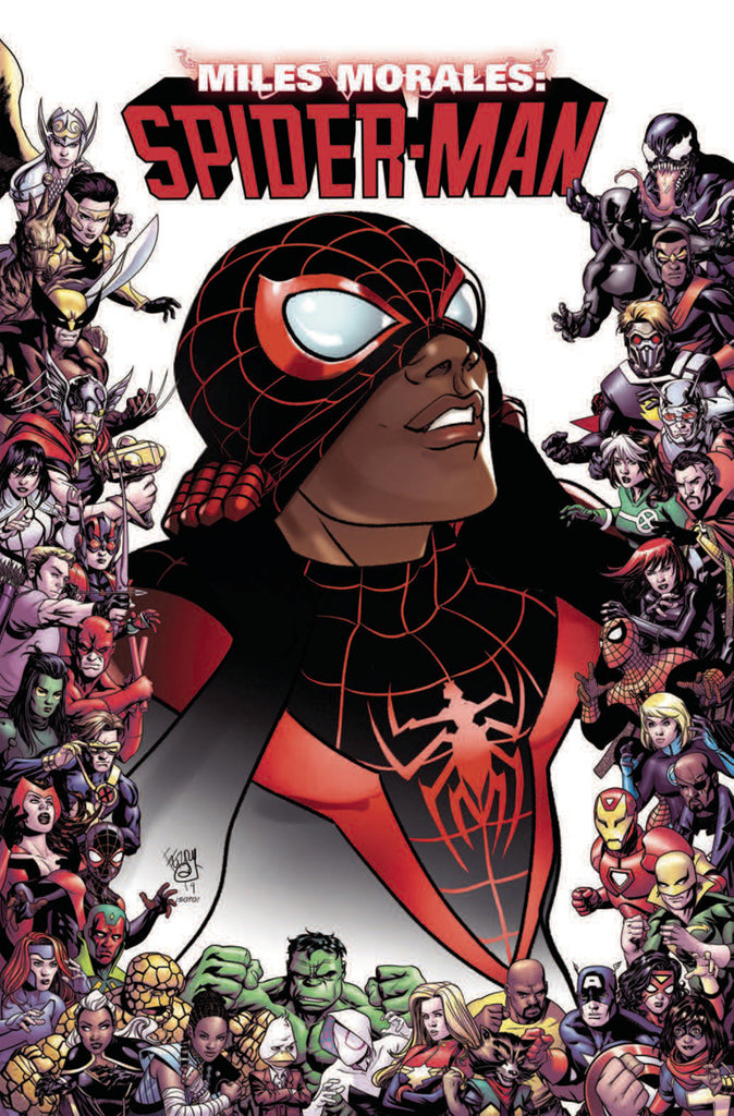 "Miles Morales; Spider-Man (2018 series) #9 (Variant ""Marvel 80th Anniversary Frame"" Cover - Pasqual Ferry)"