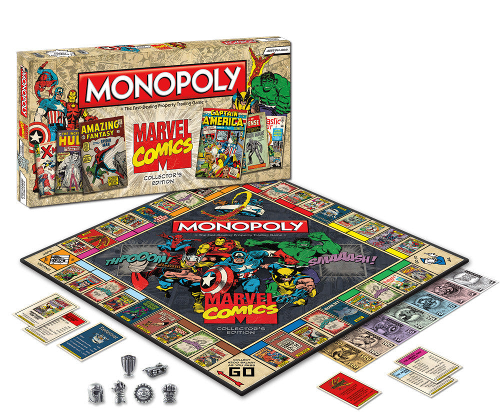 Monopoly Board Game – Marvel Comics Collector's Edition