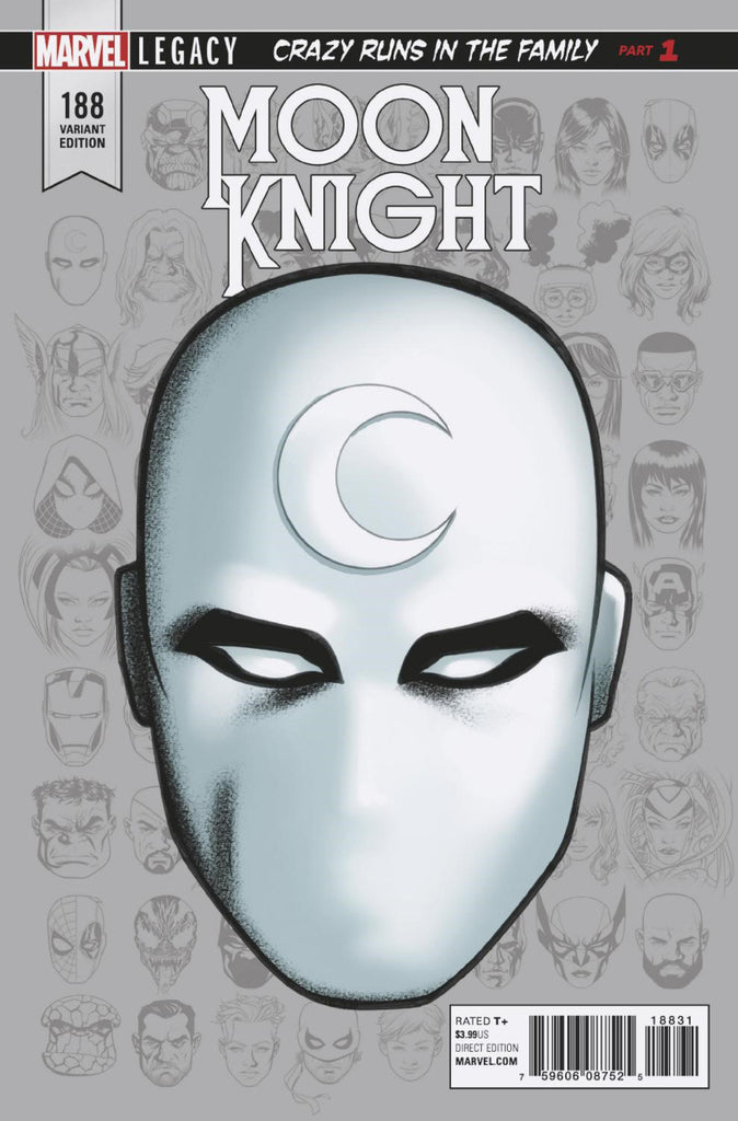 "Moon Knight (2016 Series) #188 (Variant Incentive ""Leagacy headshot"" Cover - Mike McKone)"