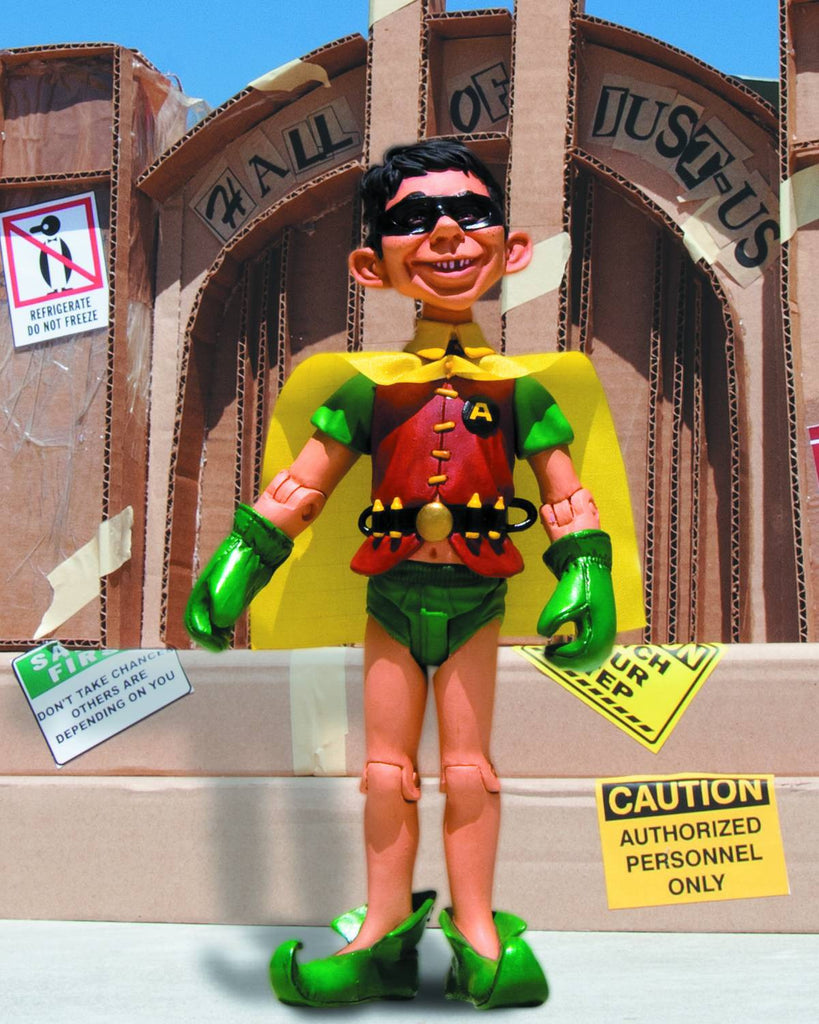 "Mad Magazine: ""Just-Us League of Stupid Heroes"" Series 3 – Alfred E. Newman as Robin 6"" Figure"