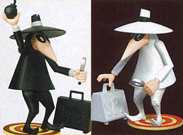 "DC Direct – Mad Magazine – ""Spy vs. Spy"" – Black Spy & White Spy 2-Figures Set (1998 Original Versions)"