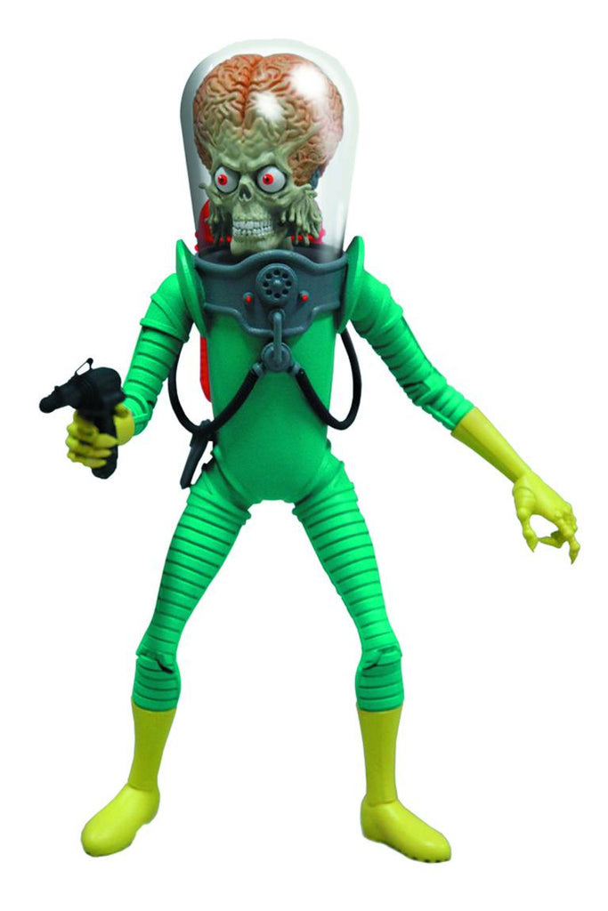 "Mars Attacks – Martian Commander 6"" Figure with Blaster, Rifle & Ray Stick"