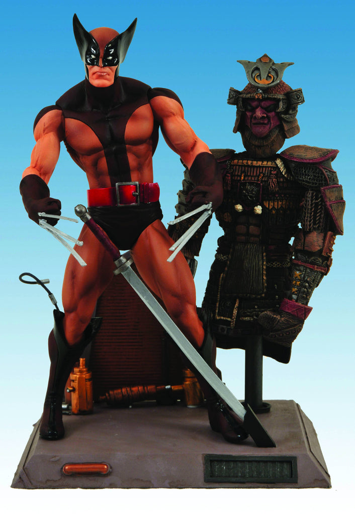 "Marvel Select – X-Men: Wolverine (Brown Costume ""Samurai"" Version) 7"" Figure with Base"