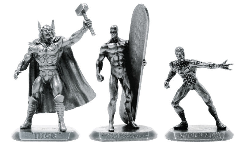 Marvel Pewter Figures – Series 1 – Spider-Man, Silver Surfer, Thor (SDCC 2011 Exclusive)