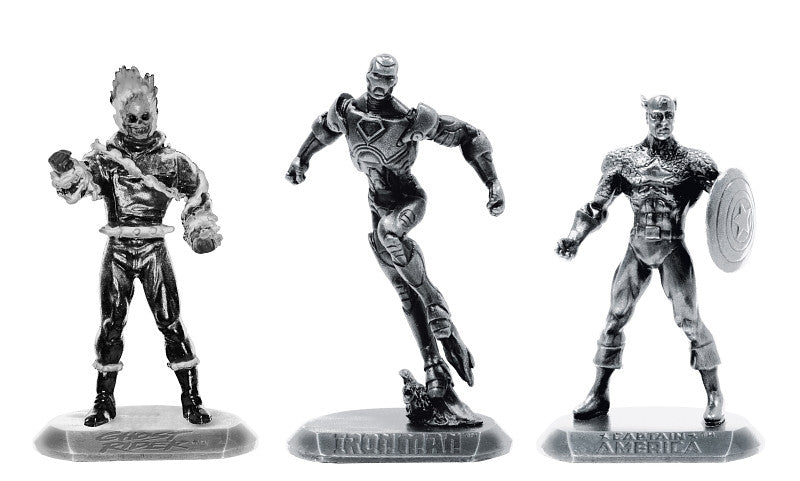 Marvel Pewter Figures – Series 2 – Iron Man, Captain America, Ghost Rider (SDCC 2011 Exclusive)