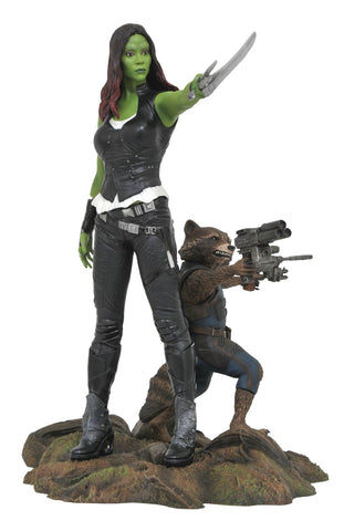 "Marvel Gallery – Guardians of the Galaxy Vol. 2 (Film) – Gamora & Rocket Roccoon 9"" PVC Diorama Statue"