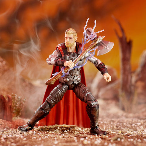 "Marvel Legends Avengers Infinity War Cull Obsidian Series – Thor (Movie Version) 6"" Figure (Cull Obsidian BaF)"