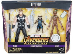 "Marvel Legends Avengers Infinity War – Exclusive Series – Thor, Rocket and Groot 6"" Figure 3-Pack Box Set (Toys R Us Exclusive)"