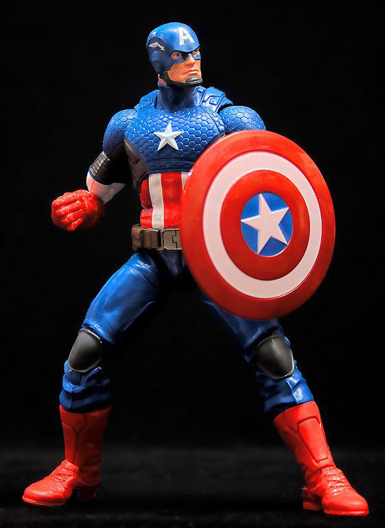 "Marvel Legends Captain America 2 – Mandroid Series – Captain America (Marvel NOW! Version) 6"" Action Figure (Mandroid BaF)"