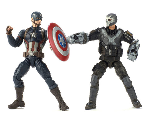 "Marvel Legends Marvel Cinematic Universe 10th Anniversary Series – Captain America; Civil War (Film) – Captain America and Crossbones 6"" Figure 2-Pack Box Set"